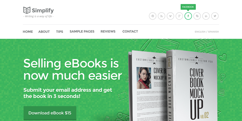 Book Landing Page Template Book Landing Page Template